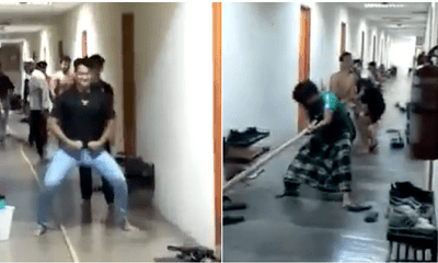 Watch: UTP Students In Fun Dormitory Tug Of War To Handle Exam Stress - WORLD OF BUZZ