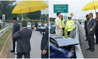 YDP Agong Stops To Check On Accident Victims Twice On Highway, Touches Netizen's Hearts - WORLD OF BUZZ 4