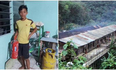 13yo M'sian Boy Saves Burning Longhouse, Says He Learned How To Use Fire Extinguisher At School - WORLD OF BUZZ
