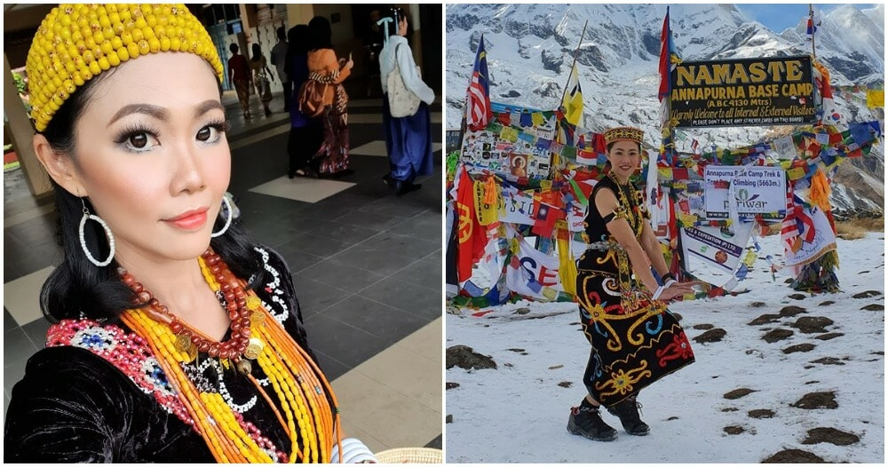 42yo Srwkian Teacher Brings Pride To Her Tribe By Trekking 4,130m In The Himalayas - WORLD OF BUZZ 2