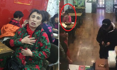 69yo Aunty Celebrates Birthday Alone in Restaurant, Young Man Heartwarmingly Pays For Her Meal - WORLD OF BUZZ 6