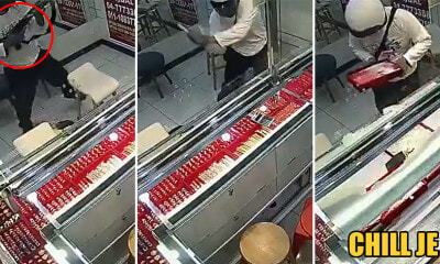 Watch: Robber Casually Walks Into Jewellery Shop, Takes Out Rifle  & Starts Whacking Glass With Axe - WORLD OF BUZZ