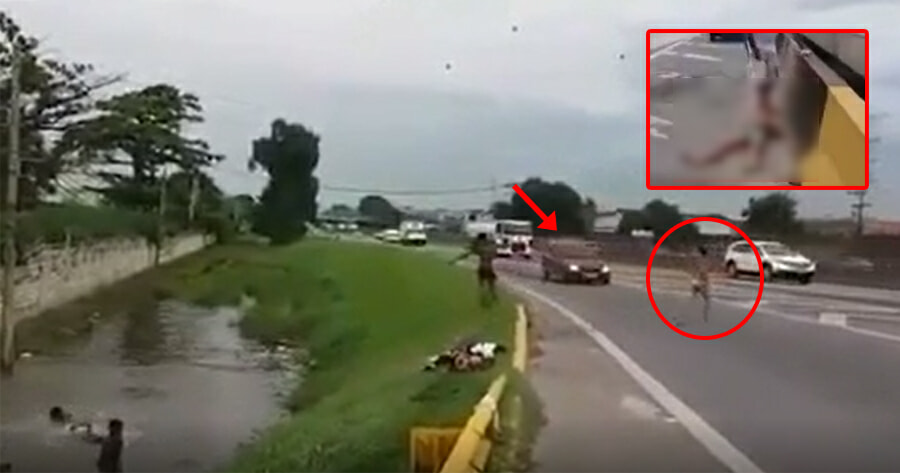 Video: Boys Running Across Highway to Jump in - WORLD OF BUZZ