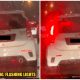 Myvi With Flashing Strobe Lights For Signal Lights Caught On Camera, - WORLD OF BUZZ