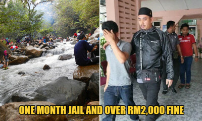 6 M'sian Guys Arrested After They Were Caught Skipping Friday Prayers to Be At a Waterfall - WORLD OF BUZZ