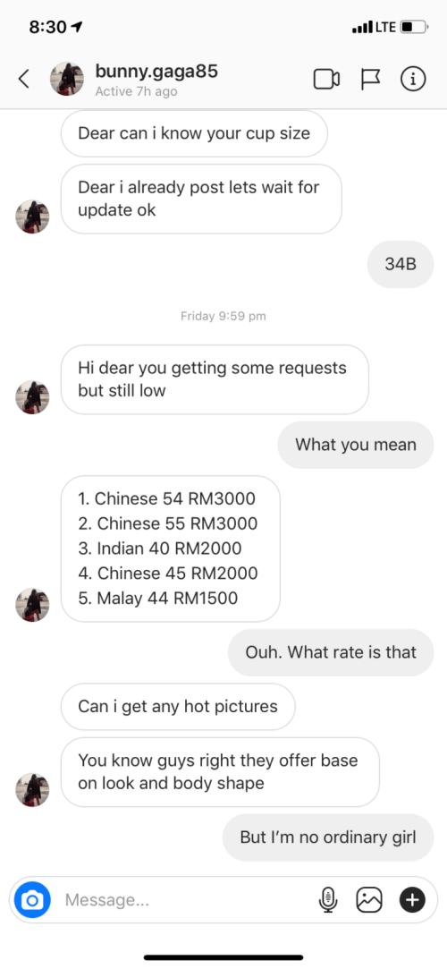 A Sugar Daddy Agent Messaged Me on Instagram and Said I Could Earn RM40,000 A Month - WORLD OF BUZZ 7
