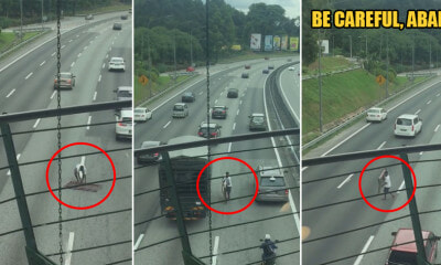 Watch: Kind M'sian Driver Puts His Life in Danger to Remove Hazardous Object on the Road - WORLD OF BUZZ