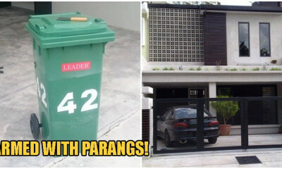 Beware: M'sian Thieves Are Now Moving Tong Sampahs To Block Your Gate & Rob You In Your Car - WORLD OF BUZZ