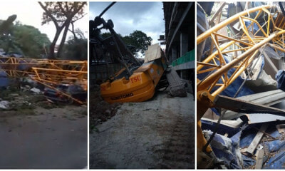 Crane Collapses On Cars And Stall In Sentul, Injured Four In The Process - WORLD OF BUZZ