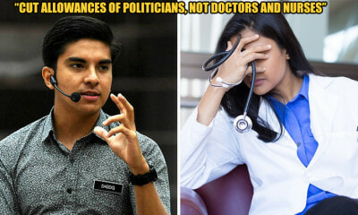 Cut Minister's Allowance, Not Nurses and Doctors - Syed Saddiq - WORLD OF BUZZ 4