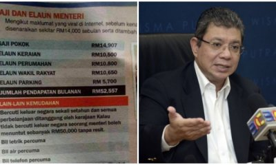 Dato' Saifuddin Abdullah Declares Viral Newspaper Clipping On Ministers' Salary To Be False - WORLD OF BUZZ