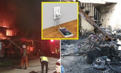 Fake Mobile Phone Charger Explodes Into Flames, Sets Fire to 3 Houses in Ipoh - WORLD OF BUZZ 2