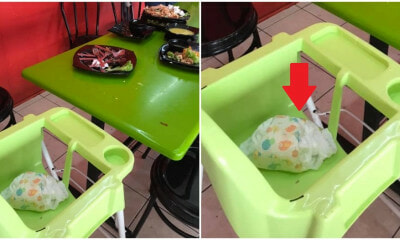 Irresponsible M'sians Leave Diapers on Baby Chair In Restaurant, Netizens Outraged - WORLD OF BUZZ 1