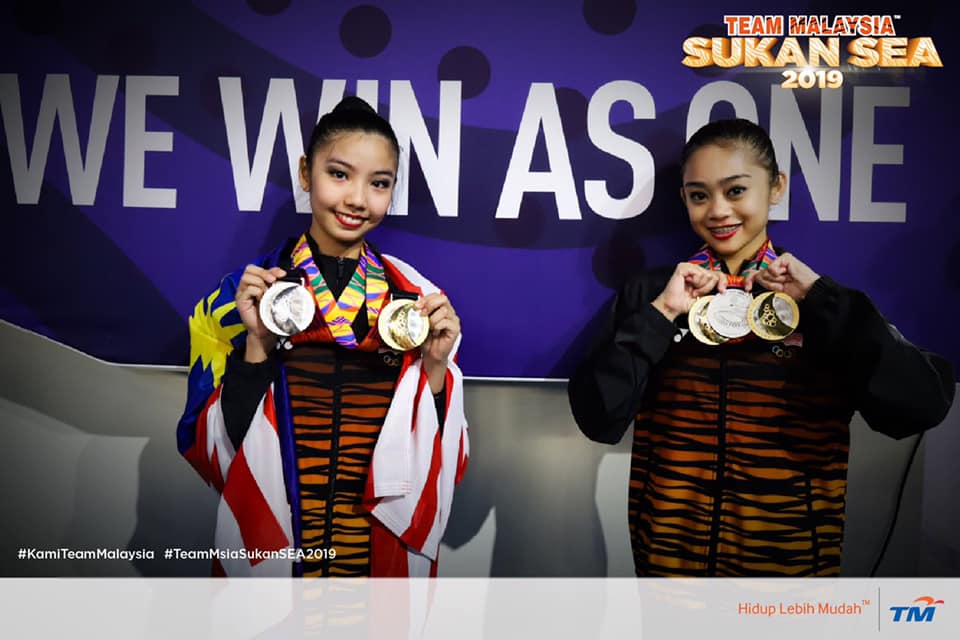 Malaysia Team Wins First Three Golds in Rhythmic Gymnastics at SEA Games 2019! - WORLD OF BUZZ