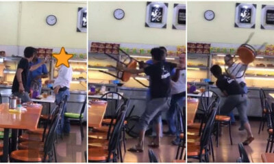 Mentally Challenged Man Runs Amok At Mamak Restaurant, Assaults Patrons And Flings Chairs In The Process - WORLD OF BUZZ 2