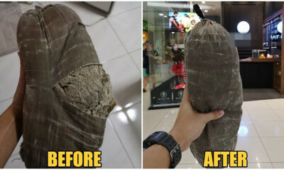 "M'sian Man's 25yo Bantal Busuk Gets ""Life-Threatening"" Tear, Managed To Be Saved By Pro Tailor - WORLD OF BUZZ"
