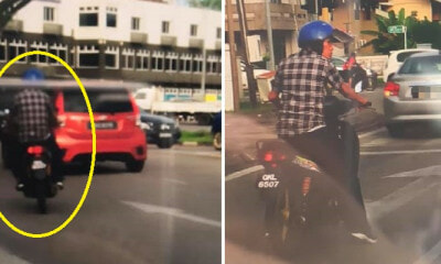 M'sian Warns About Motorcyclist Targeting Lone Drivers & Demanding Money After Faking Accident - WORLD OF BUZZ 2