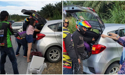 M'sians Of All Races Help A Lone Female Driver Change Her Flat Tire Together, Makes Us All Proud - WORLD OF BUZZ