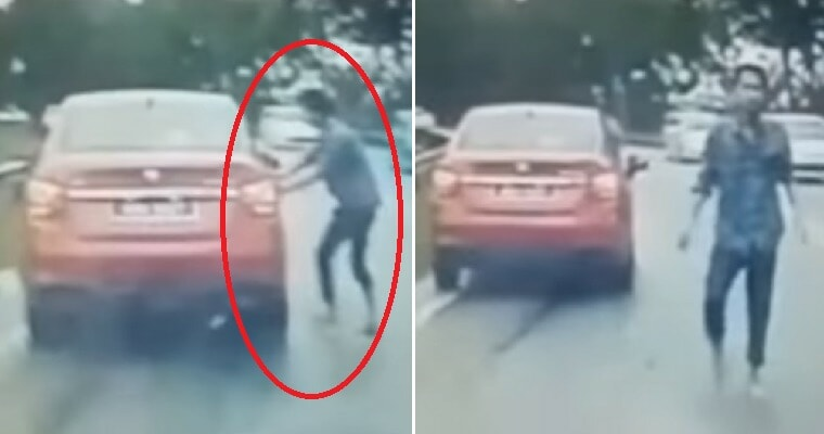 """""""My Doors Were Unlocked,"""" Drunk Man Tries to Force Open Terrified M'sian Woman's Car On Highway - WORLD OF BUZZ"""