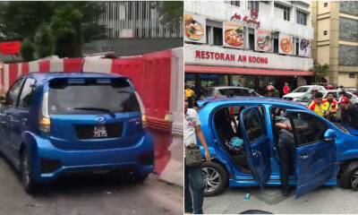 Myvi Rams Into Several Cars In Jalan Pudu Trying To Escape After Allegedly Robbing OKU - WORLD OF BUZZ 4