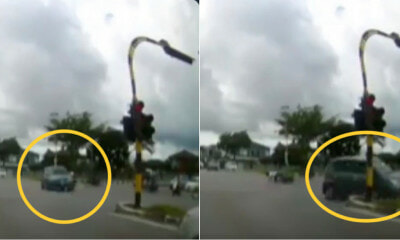 Myvi Runs A Red Light, Causes Accident And End Up Smashing Into The Traffic Light Pole - WORLD OF BUZZ 3