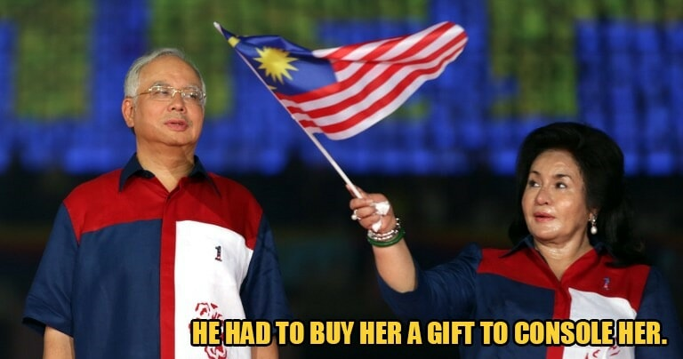 Najib Buys RM500k Watch for Rosmah So She Wouldn't Get Angry As He Left Her Alone in Hawaii - WORLD OF BUZZ