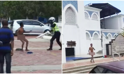 Naked Man Runs Amok & Slashed Policeman Right Arm at Mosque - WORLD OF BUZZ