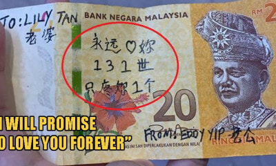 Netizen Asking Social Media For Help To Identify Owner Behind Heartbreaking RM20 Note - WORLD OF BUZZ