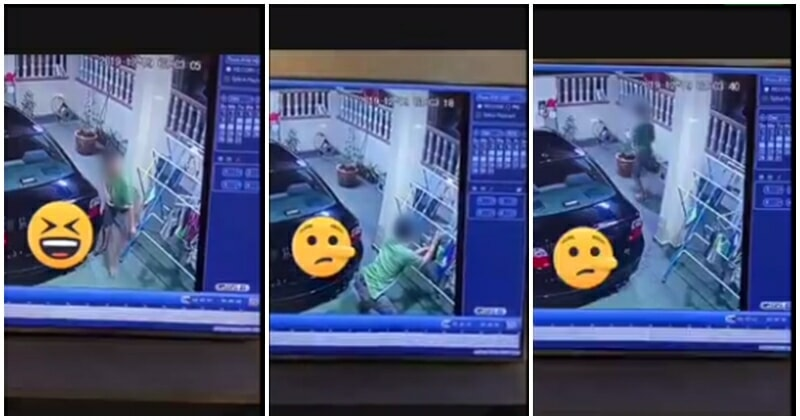 Perv Caught On Video Stealing Lady's Undergarments In Her Own Home - WORLD OF BUZZ 1
