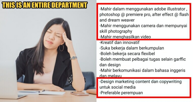 Selangor Company Pays RM1,800 to Hire ONE Graphic Designer with Crazy Requirements, Netizens - WORLD OF BUZZ