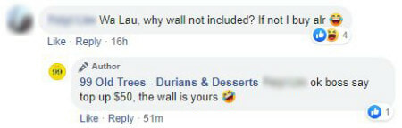 Singapore durian store taped durian on white wall - WORLD OF BUZZ 3