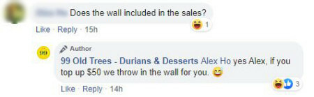 Singapore durian store taped durian on white wall - WORLD OF BUZZ 4