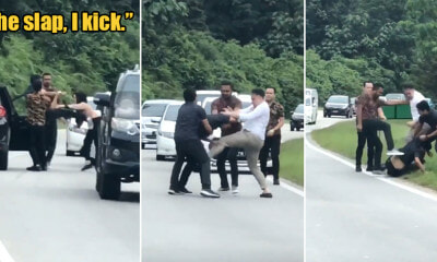 Watch: M'sian Man Kicks Woman for Honking Him Non-Stop Because He Wanted to Cut In Front of Her - WORLD OF BUZZ