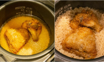 The Japanese Cooks Chicken Rice With KFC Chicken And We Are Drooling Over It - WORLD OF BUZZ 5