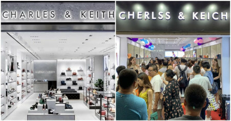 There Is A Charles & Keith Knockoff in China & It's Called Cherlss & Keich - WORLD OF BUZZ