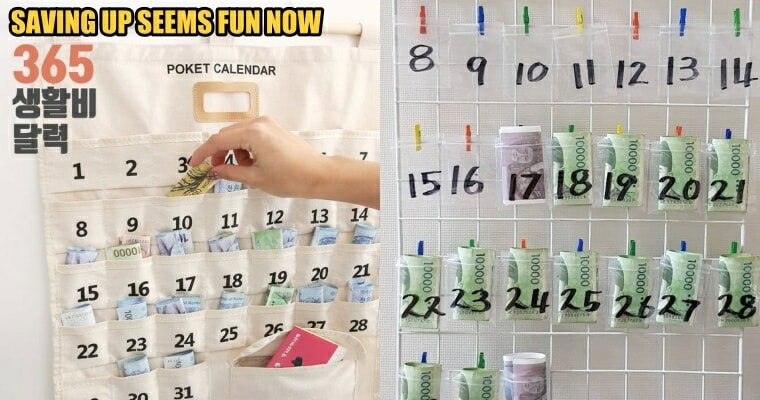 This Korean Pocketed Calendar Can Help You Save At Least RM3,000 a Year - WORLD OF BUZZ 4
