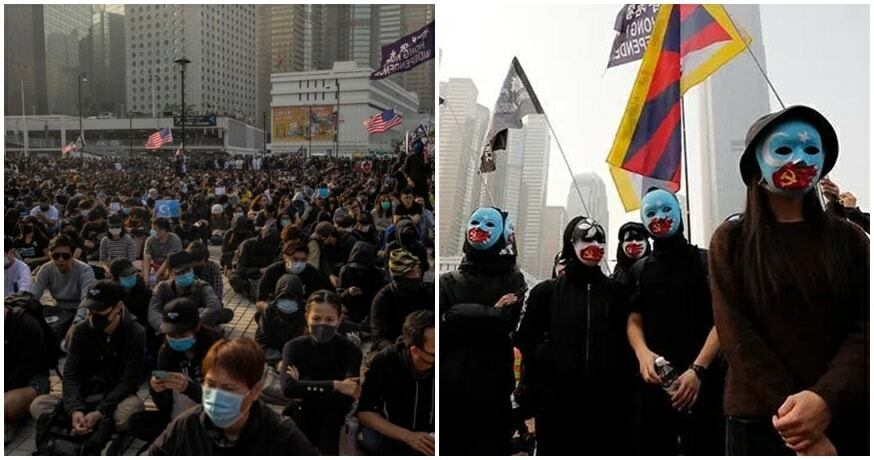 Thousands of HK Protesters Rally Against The Abuse & Imprisonment of Uyghurs In China - WORLD OF BUZZ
