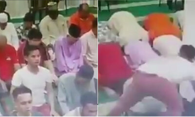 Tough Guy Stealings Bags In The Mosque While Everyone Else Is Praying - WORLD OF BUZZ 3