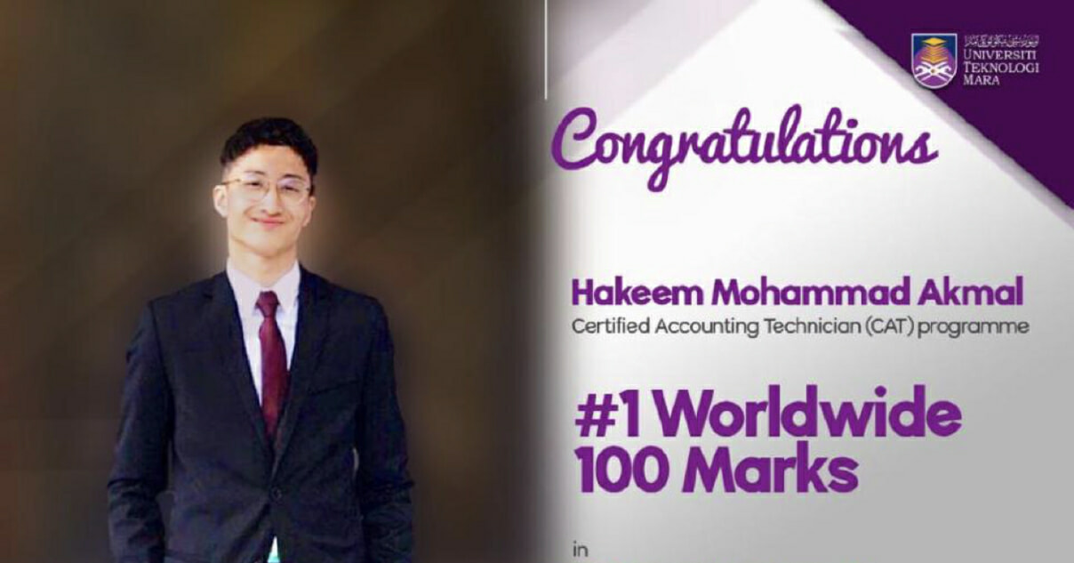 UiTM Accounting Student Scores 100% And Becomes World No 1 - WORLD OF BUZZ 1