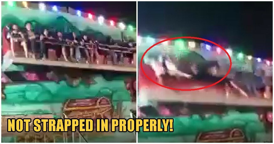 Video: Amusement Ride Passengers Get Violently FLUNG OUT When Safety Harness Fails - WORLD OF BUZZ