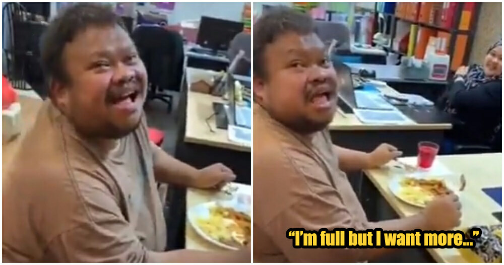Video: Disabled M'sian Guy Eating Heartily After 4 Days Sparks Joy And Tears Among Netizens - WORLD OF BUZZ