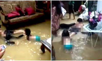 Video: Lively Kids In Kelantan Swim In Their Flooded Home Liven Up Their Situation - WORLD OF BUZZ