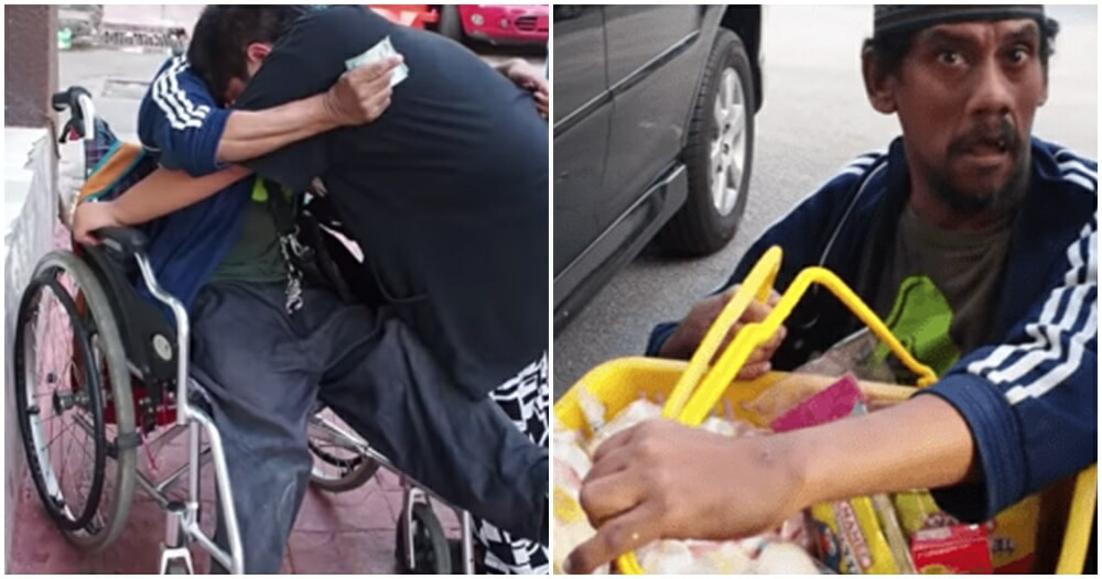 Watch: 49yo OKU Food Seller Moved To Tears After Penang Man Buys His Entire Stock of Food - WORLD OF BUZZ 2