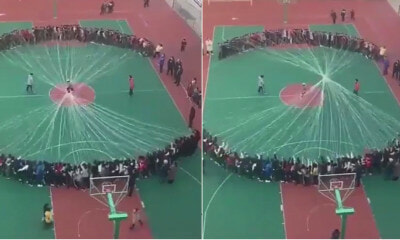 Watch: When The Whole School Decides To Join The Jump Rope Game - WORLD OF BUZZ 4