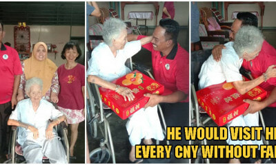 102yo Chinese Grandma Treats 50yo Malay Man As Her Own Grandson, Despite Not Being Related - WORLD OF BUZZ 3