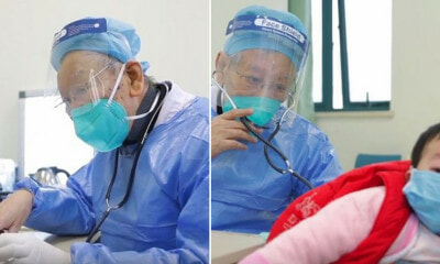 86yo Retired Doctor in Wheelchair Insists On Helping Patients Amidst Wuhan Virus Outbreak - WORLD OF BUZZ 2