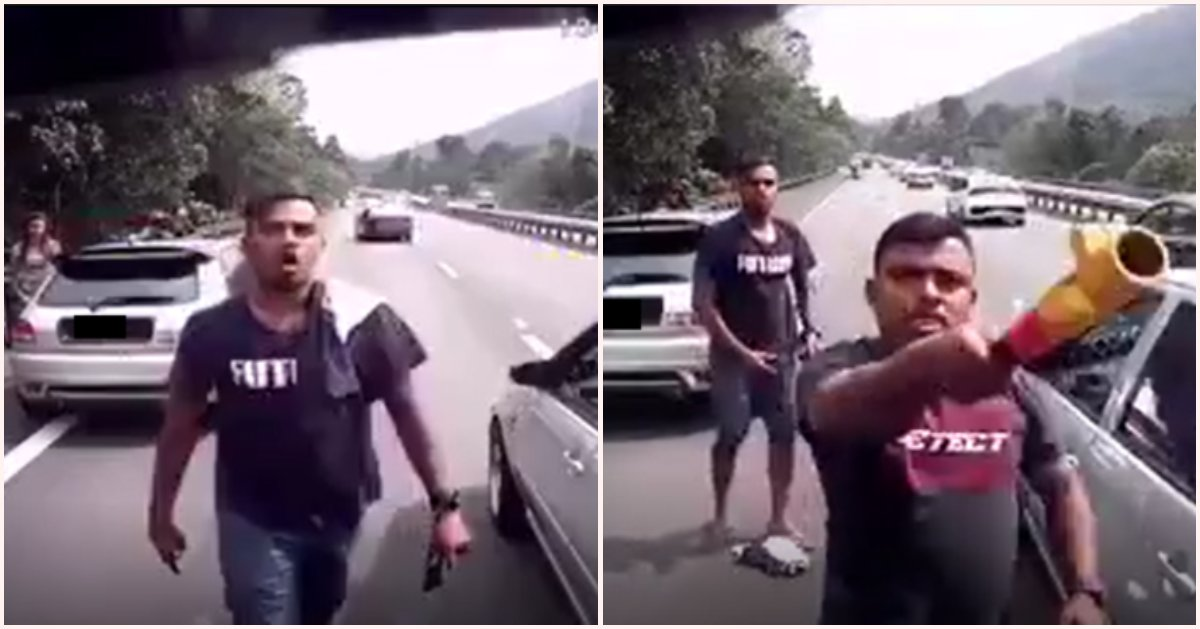 Watch: Car Blocking Emergency Lane For Car Gets Threatened With Steering Lock - World Of Buzz