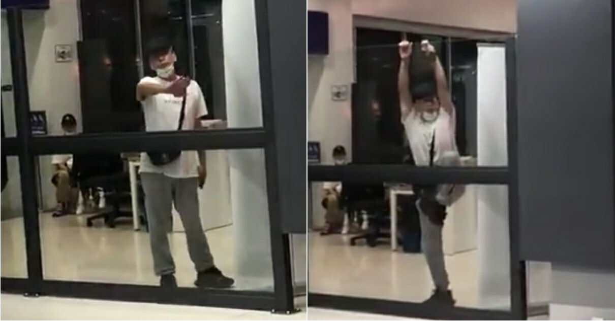 China Tourist Allegedly Tries To Climb Over The Wall At Senai Airport - WORLD OF BUZZ 3