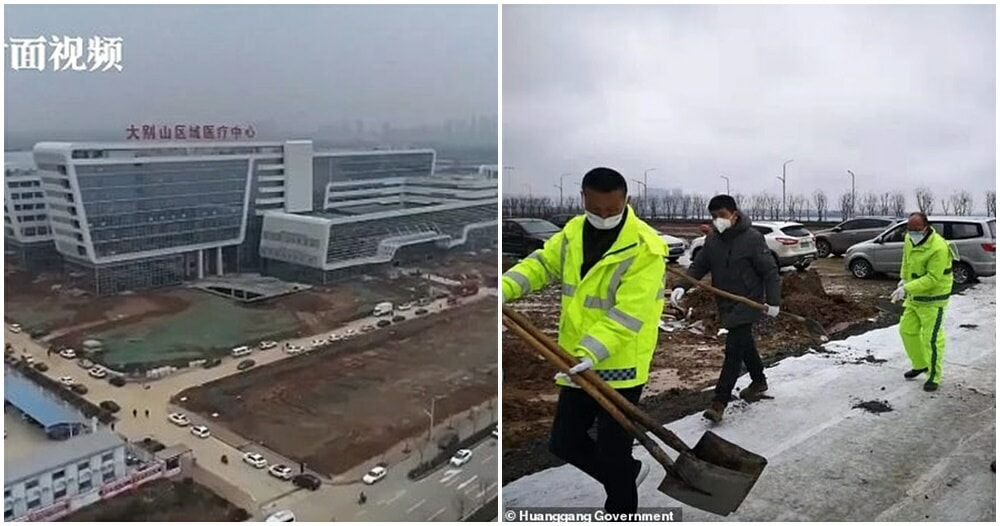 China's First Wuhan Virus Hospital Is Now Open After Just 2 Days Of Construction - WORLD OF BUZZ 7