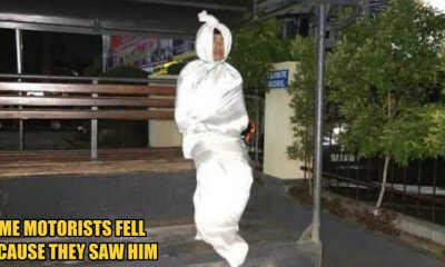 Indonesian Guy Pretends to be Pocong, Gets Arrested by the Police - WORLD OF BUZZ 1